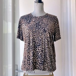 Leopard Printed Soft Tee